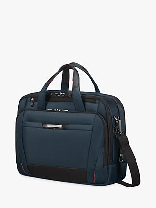 "Samsonite Pro Dlx 5 Bail Handle 15"" Laptop Briefcase, Oxford Blue"