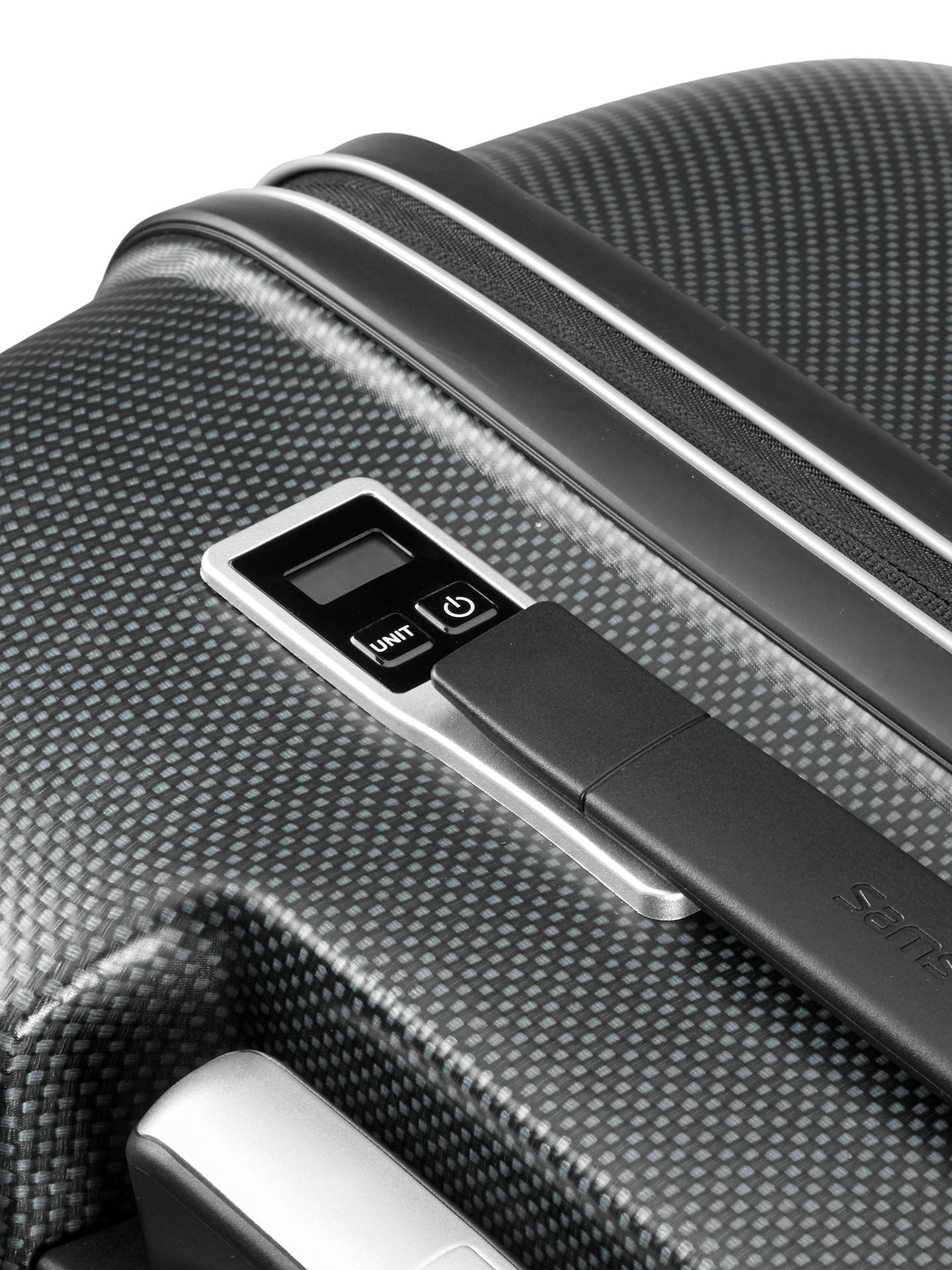 BuySamsonite Pixon 4-Wheel 76cm Integrated Scales Large Case, Graphite Online at johnlewis.com