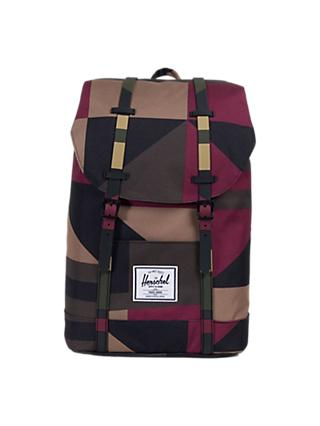 6fca778c98f Herschel Supply Co. Retreat Backpack, Windsor Wine Frontier Geo