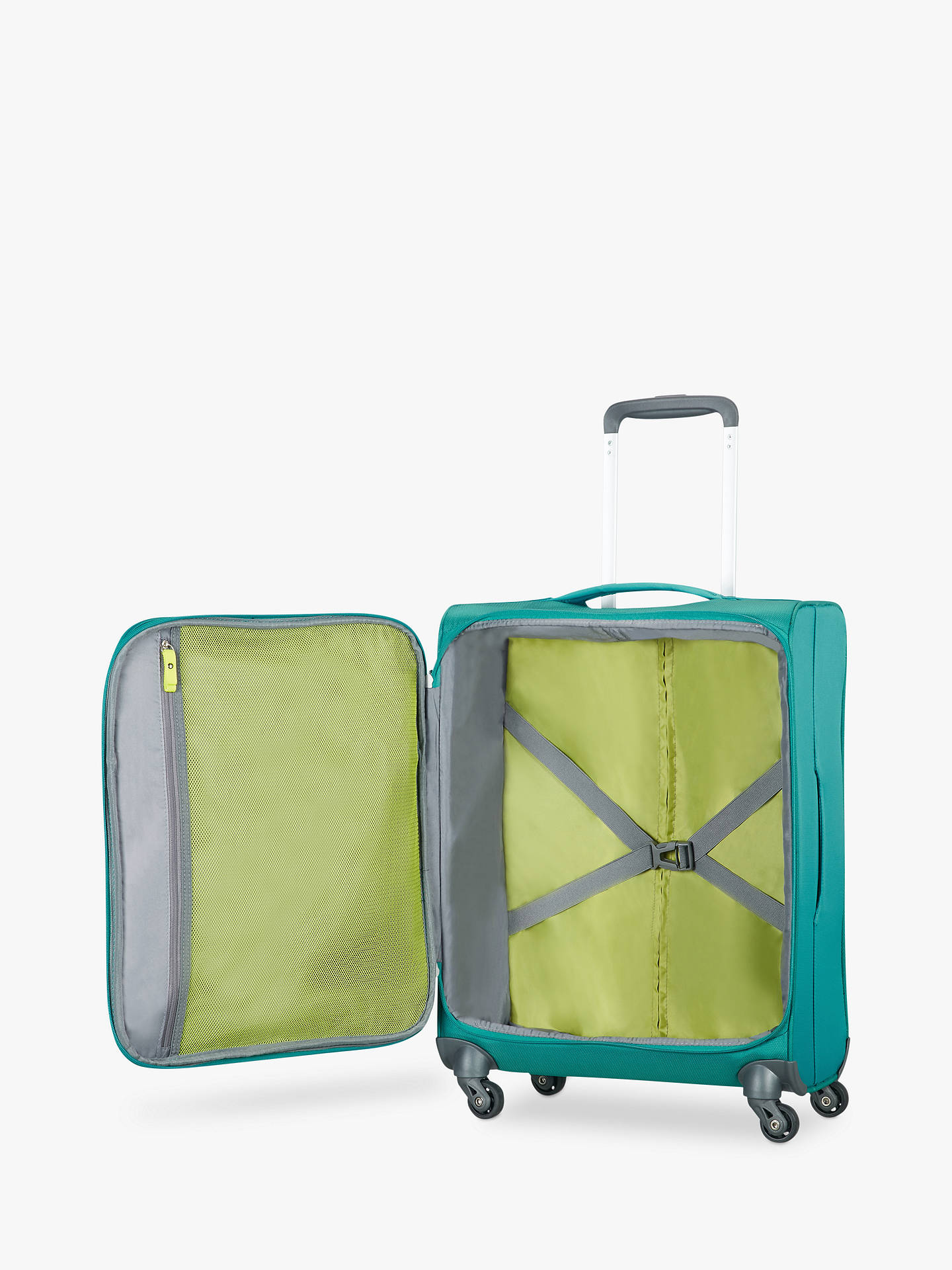 BuyAmerican Tourister Herolite Lifestyle 4-Spinner Wheel 55cm Cabin Suitcase, Teal Online at johnlewis.com