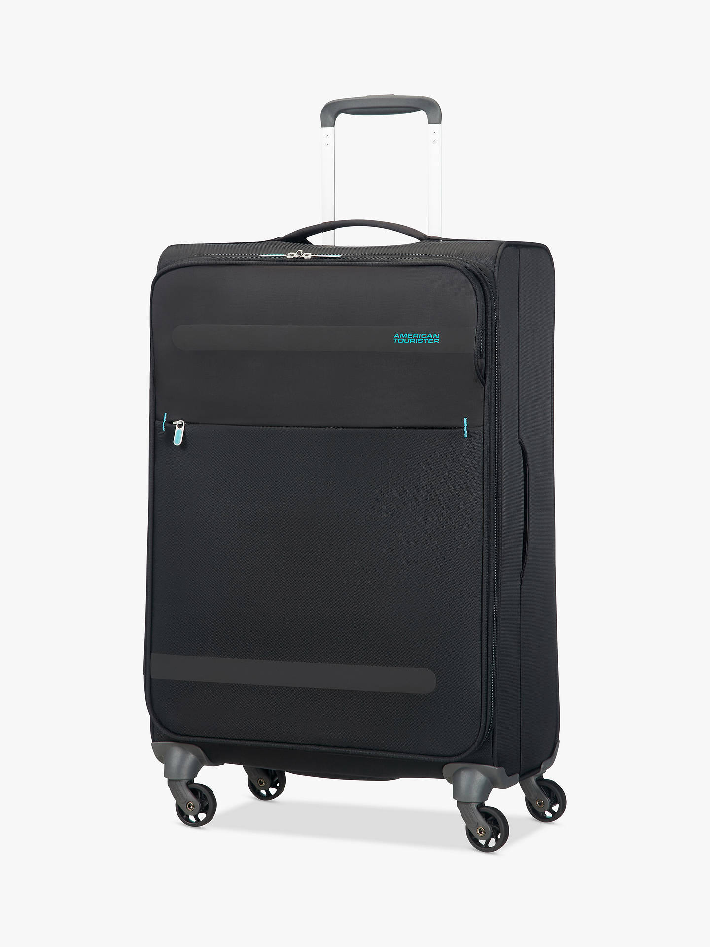 BuyAmerican Tourister Herolite Lifestyle 4-Spinner Wheel 67cm Suitcase, Volcanic Black Online at johnlewis.com
