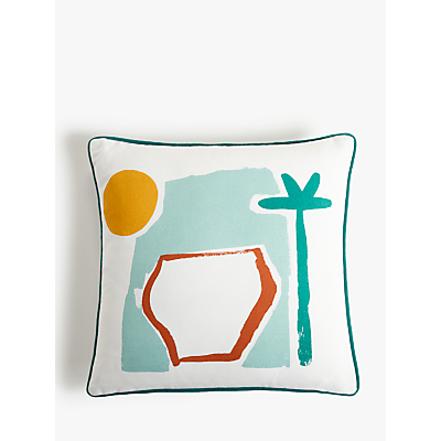 John Lewis & Partners Vista Showerproof Outdoor Cushion, 43 x 43cm, Multi