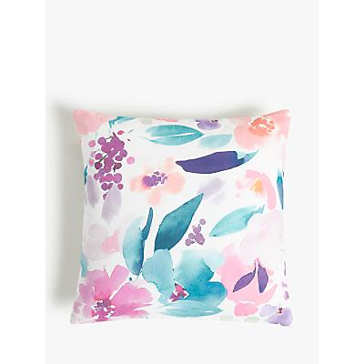 John Lewis & Partners Floral Reversible Showerproof Outdoor Cushion, 43 x 43cm