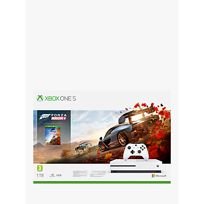 Image of Microsoft Xbox One S Console, 1TB, with Wireless Controller and Forza Horizon 4 Bundle