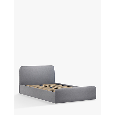 House by John Lewis Bonn Ottoman Storage Upholstered Bed Frame, Double, Saga Grey