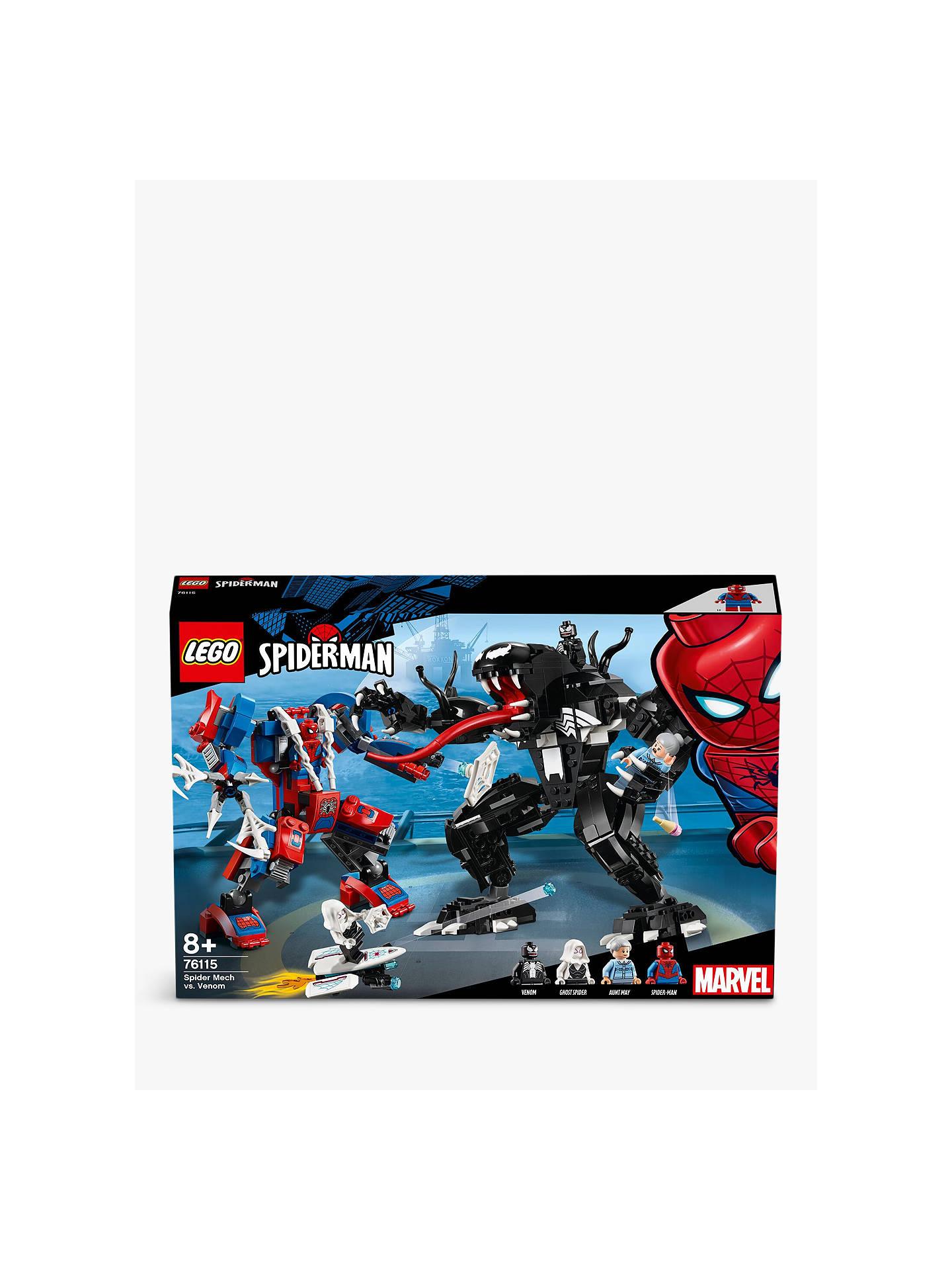 61f820ec9628c7 Buy LEGO Marvel Super Heroes 76115 Spider Mech Vs. Venom Online at  johnlewis.com ...