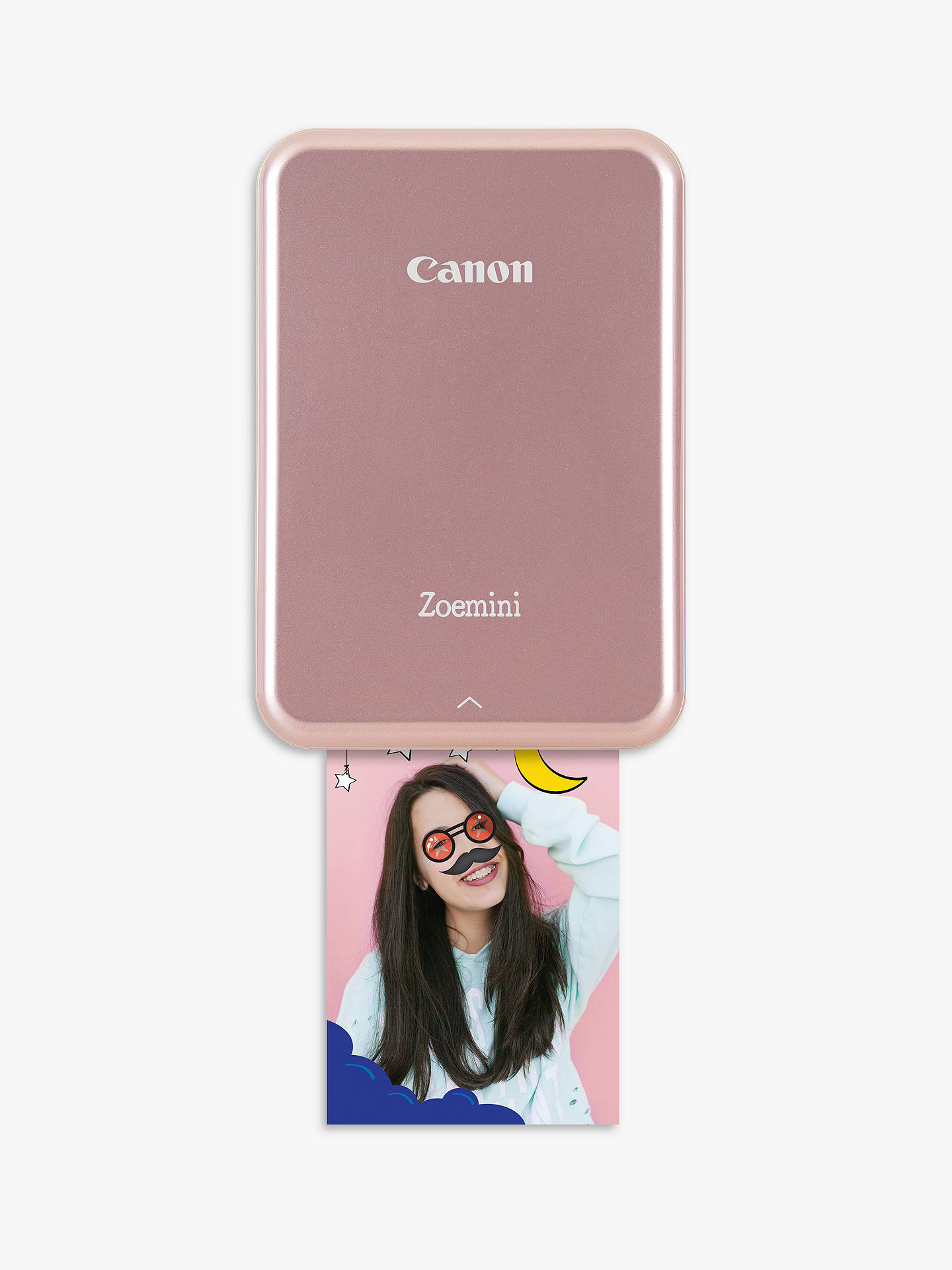 BuyCanon Zoemini Mobile Photo Printer, Rose Gold Online at johnlewis.com