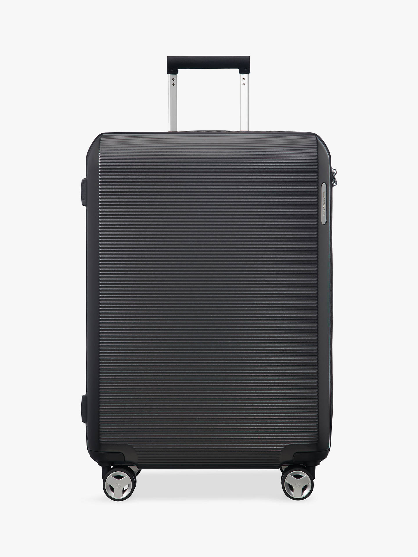 BuySamsonite Arq 4-Wheel 69cm Medium Case, Matte Black Online at johnlewis.com