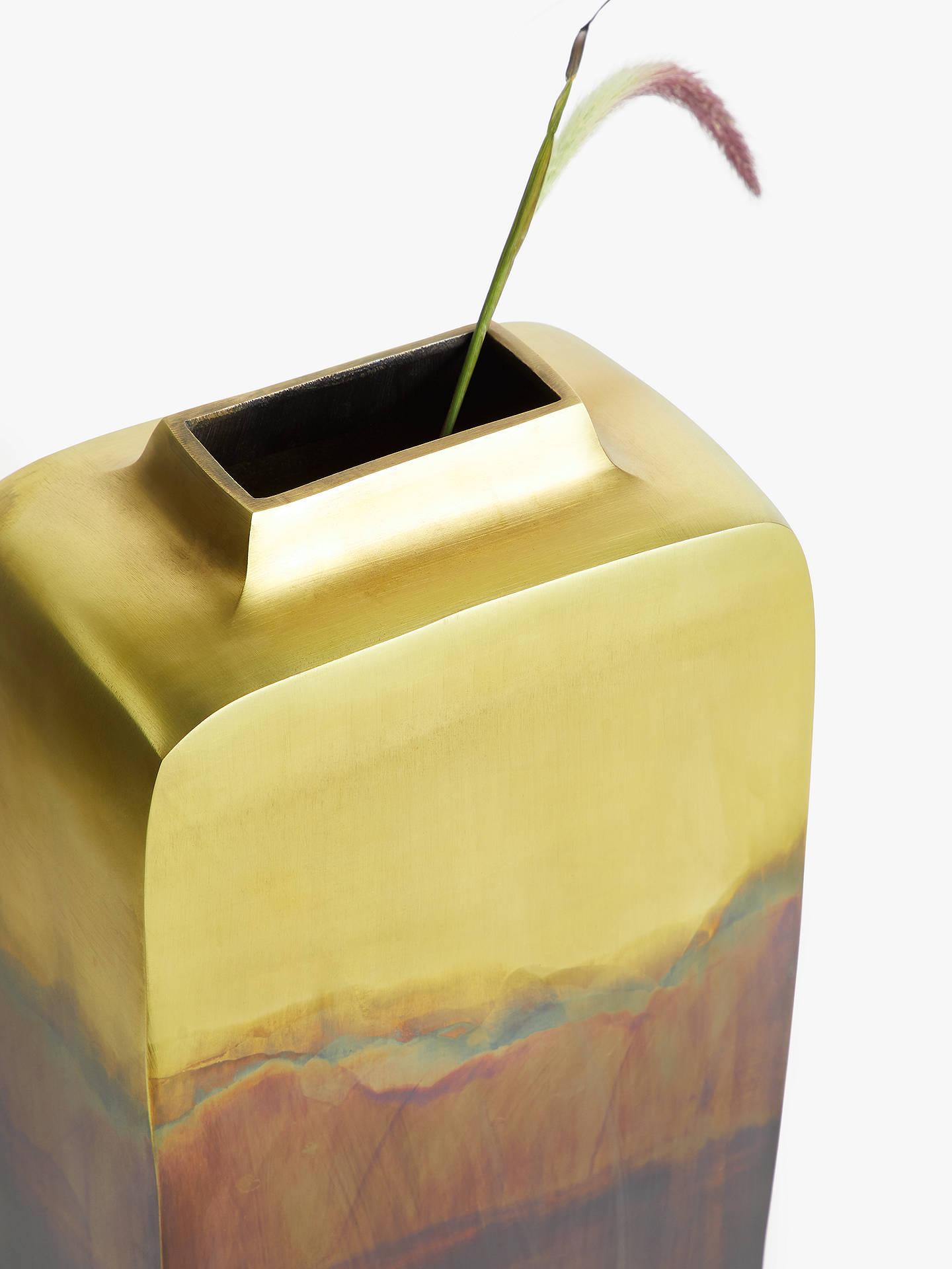 John Lewis Partners Aluminium Ombre Tall Vase Gold H45cm At John Lewis Partners