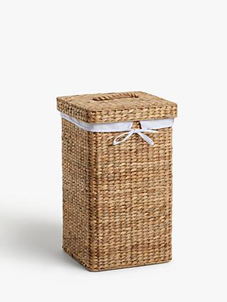 John Lewis & Partners Water Hyacinth Single Laundry Basket