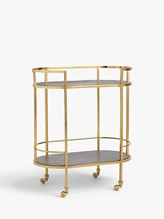 John Lewis & Partners + Swoon Lovelace Bar Cart, Gold