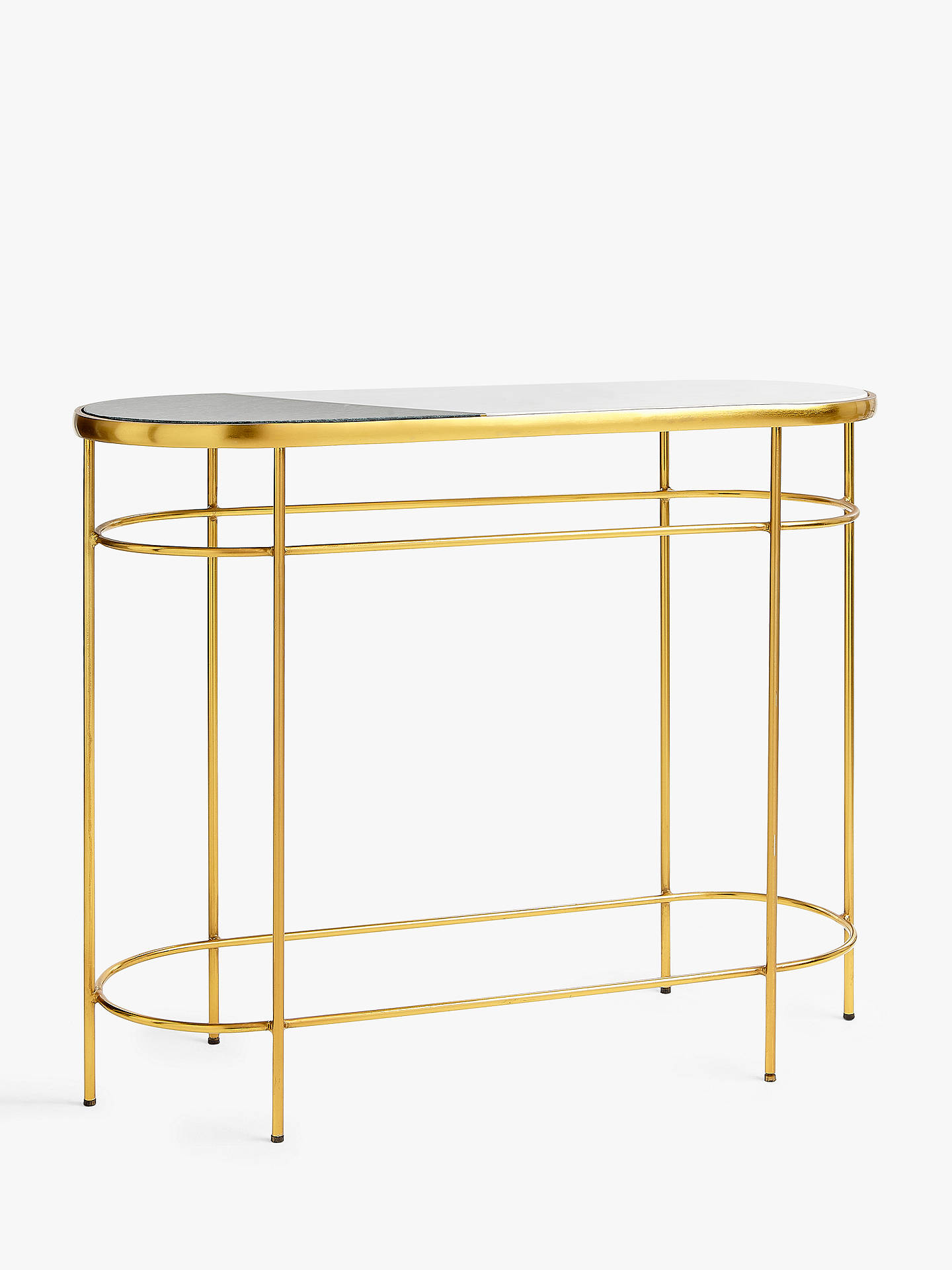 Pleasant John Lewis Partners Swoon Sartre Marble Console Table Gold Green Machost Co Dining Chair Design Ideas Machostcouk