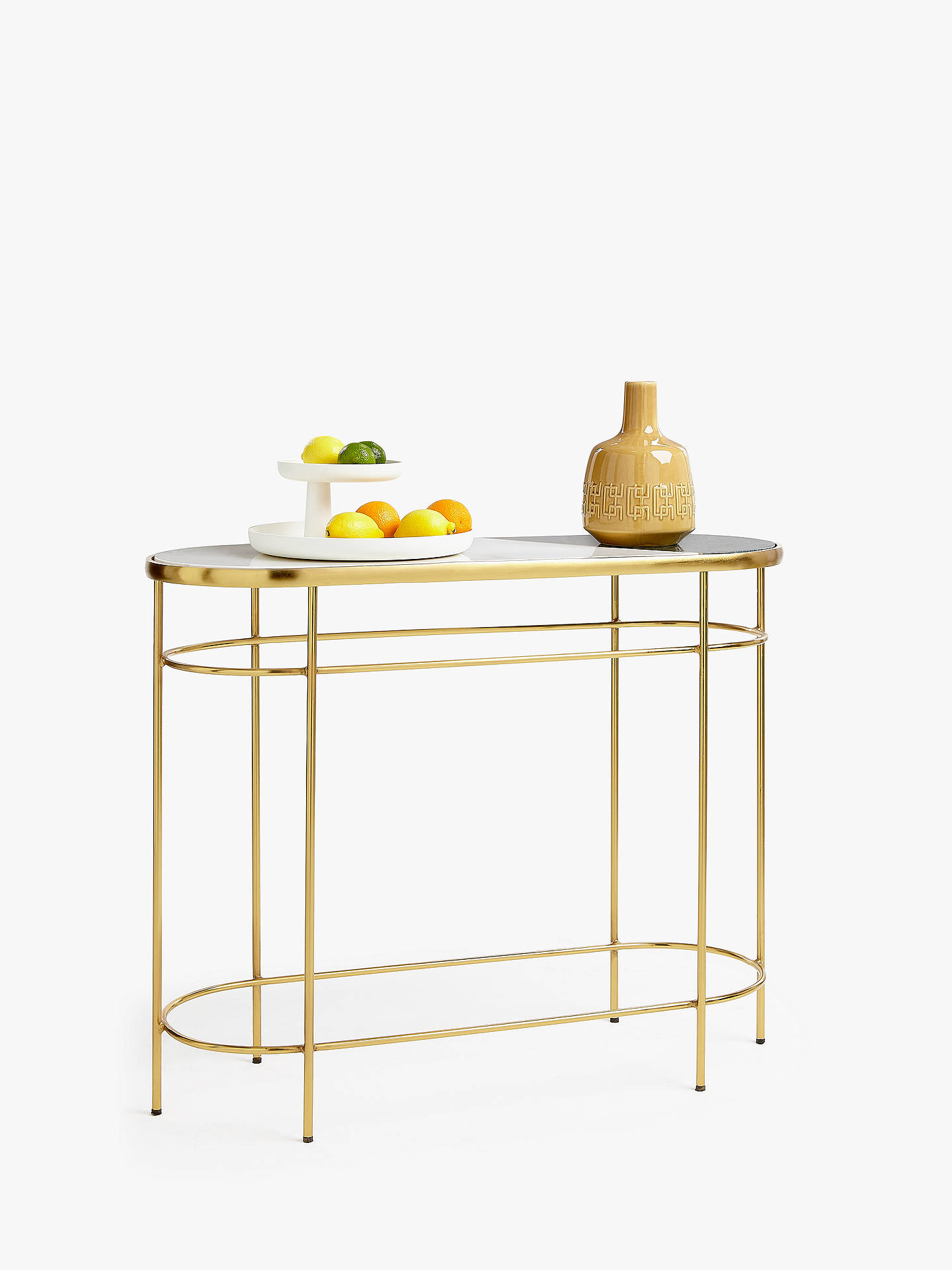 Prime John Lewis Partners Swoon Sartre Marble Console Table Gold Green Machost Co Dining Chair Design Ideas Machostcouk