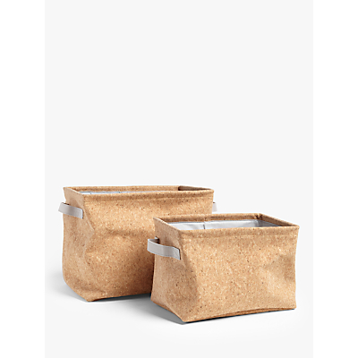 House by John Lewis Cork Storage Baskets, Set of 2
