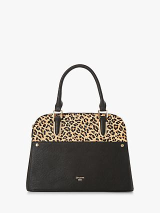 Dune Davie Medium Grab Bag Leopard Black