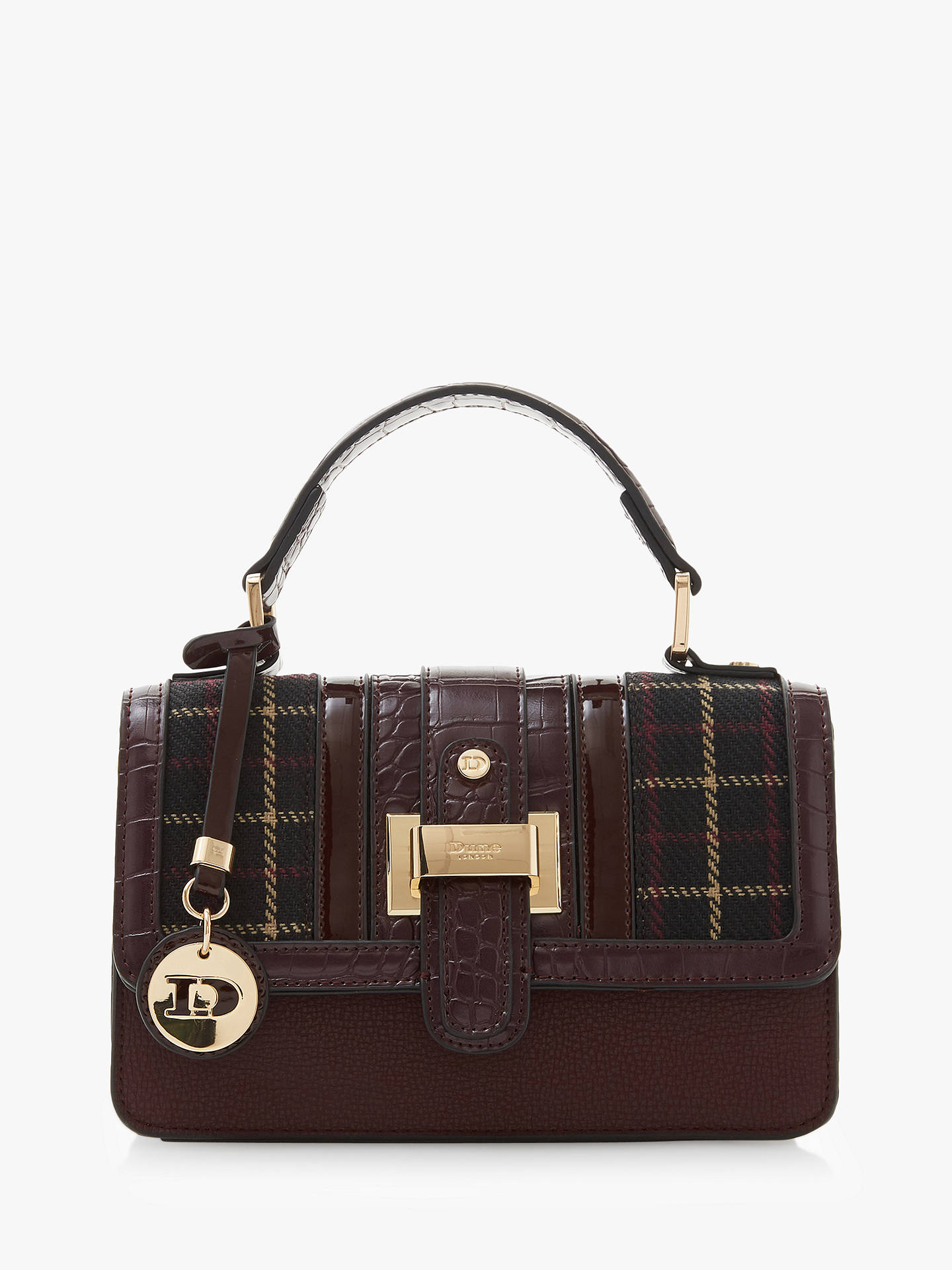dune dprince fabric satchel bag black burgundy at john lewis partners rh johnlewis com
