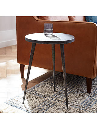 Buy west elm Tripod Side Table, Charcoal Online at johnlewis.com