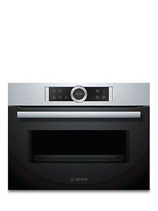 Bosch Serie 8 CFA634GS1B Built-In Compact Microwave Oven, Silver