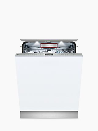 NEFF N70 S515T80D2G Integrated Dishwasher with doorOpen Assist, A++ Energy Rating, W59.8cm, Silver
