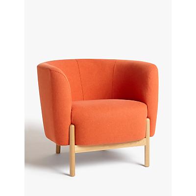 John Lewis & Partners Pod Armchair, Light Leg, Marylamb Terracotta