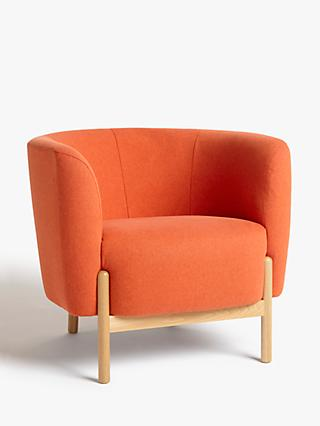 John Lewis & Partners Pod Armchair, Light Leg, Marylamb Terracotta