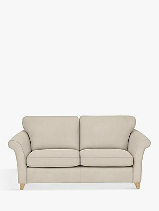 John Lewis & Partners Charlotte Grand 3 Seater Sofa Bed, Light Leg, Edie Grey