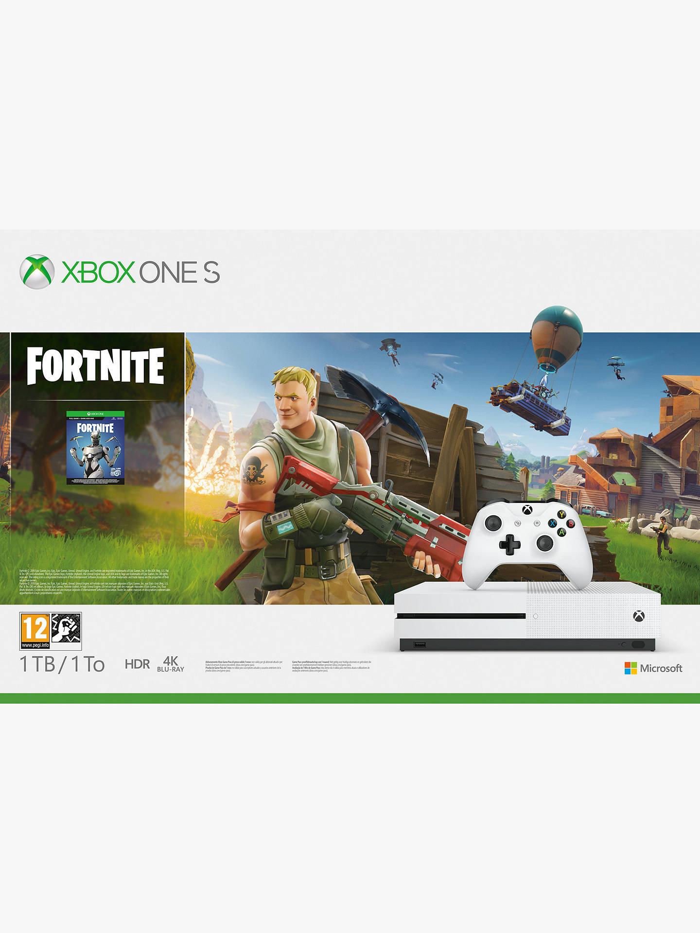 Microsoft Xbox One S Console 1tb With Wireless Controller And