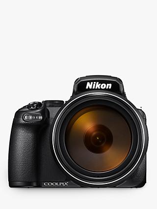 "Nikon COOLPIX P1000 Bridge Camera, 16MP, 4K UHD, 125x Optical Zoom, Wi-Fi, Bluetooth, 3.2"" Vari-Angle LCD Screen"
