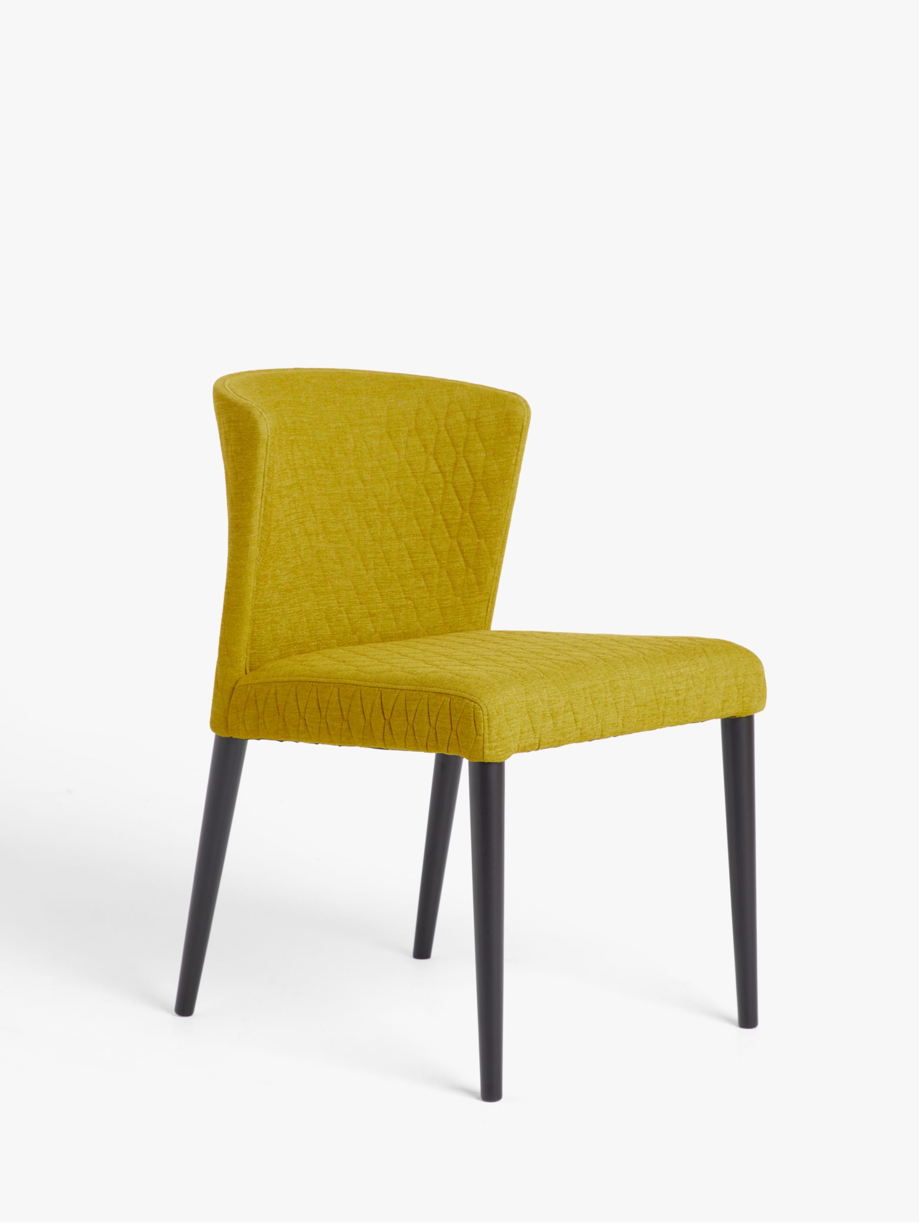 John Lewis & Partners Yoko Quilted Dining Chair, Yellow
