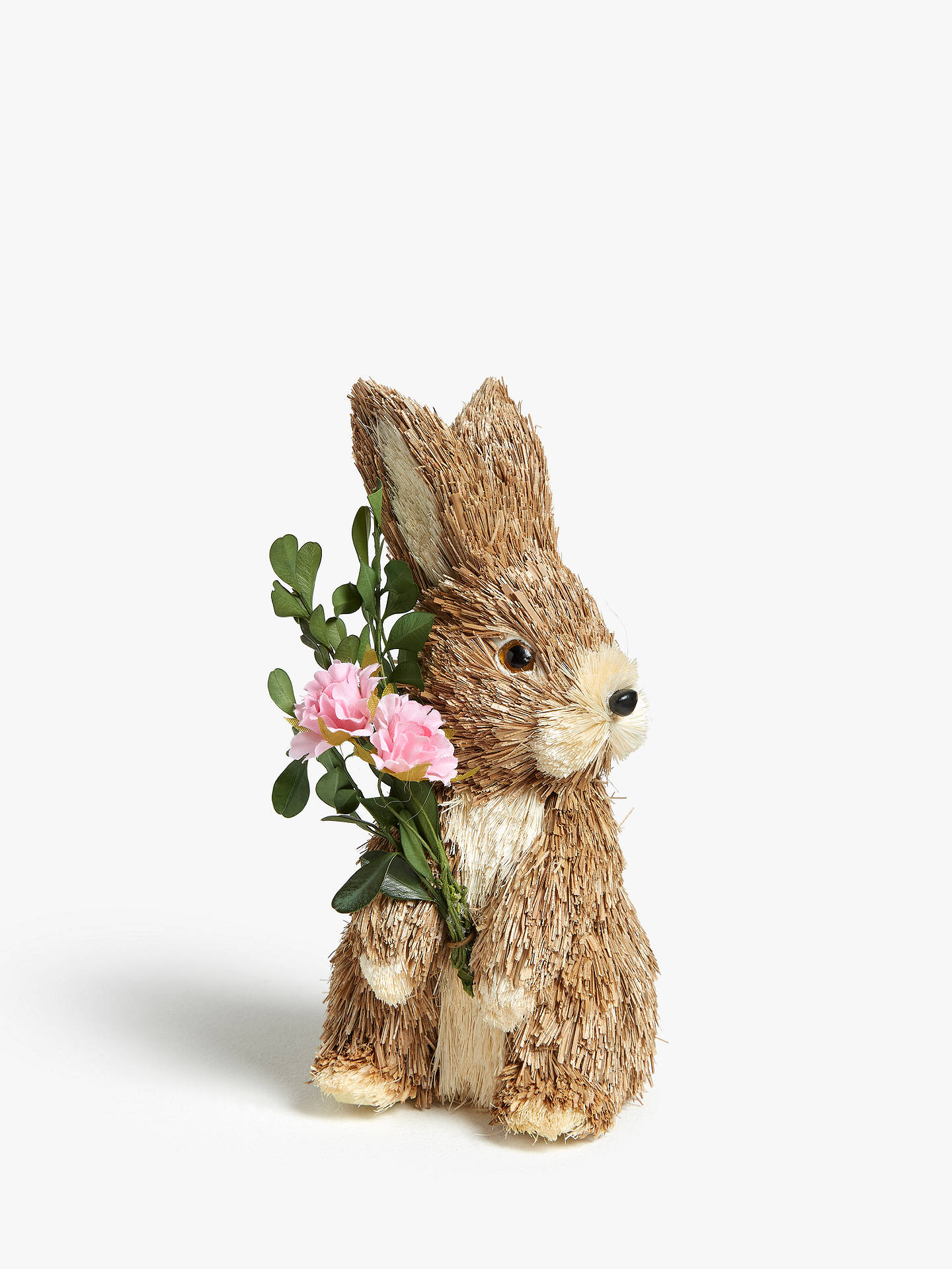 aa60bba295d4 Buy John Lewis & Partners Decorative Rabbit with Pink Flower Online at  johnlewis. ...