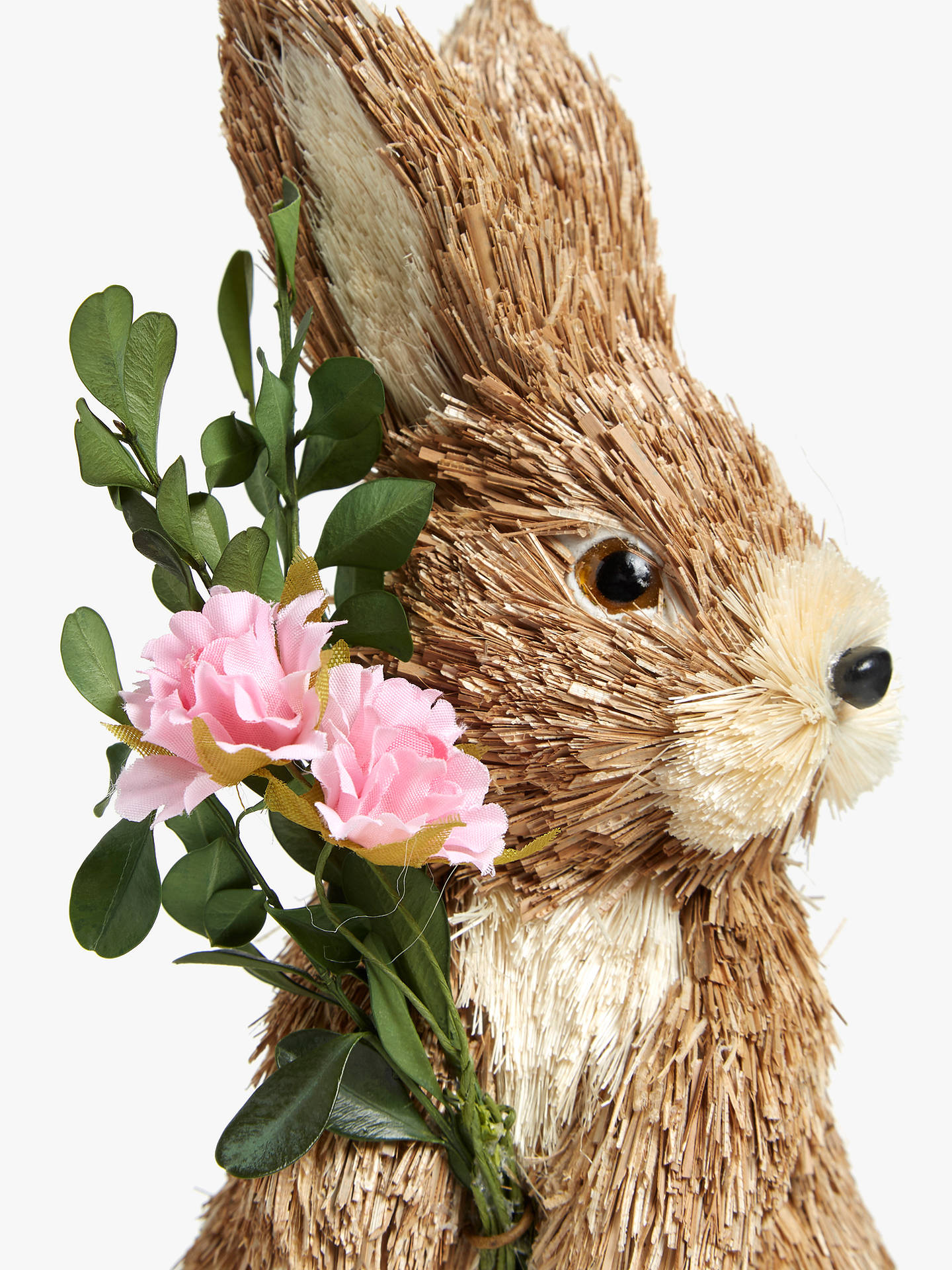 337ebbd8e32e ... Buy John Lewis & Partners Decorative Rabbit with Pink Flower Online at  johnlewis.com
