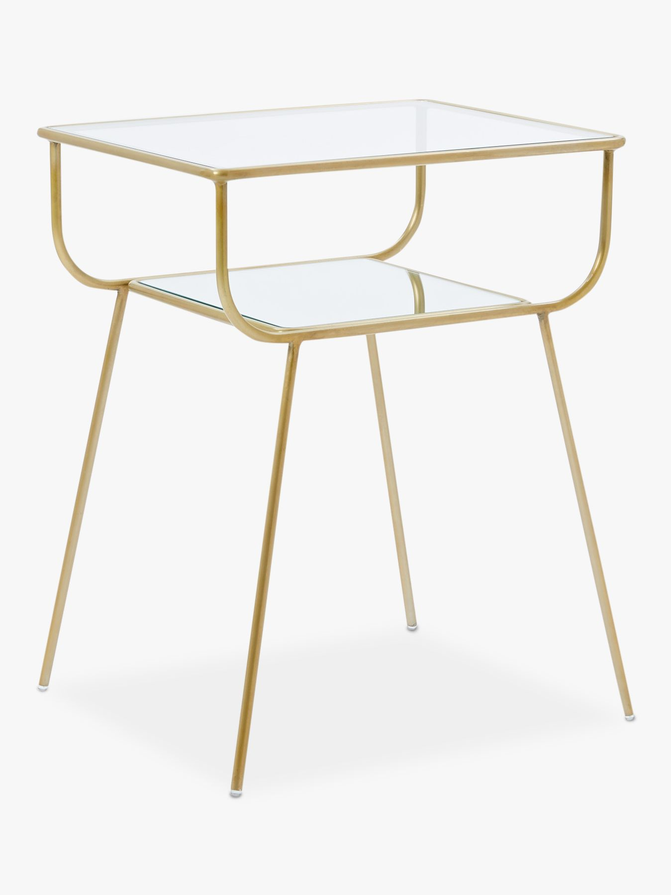 West Elm Terrace Bedside Table Antique Brass At John Lewis Partners