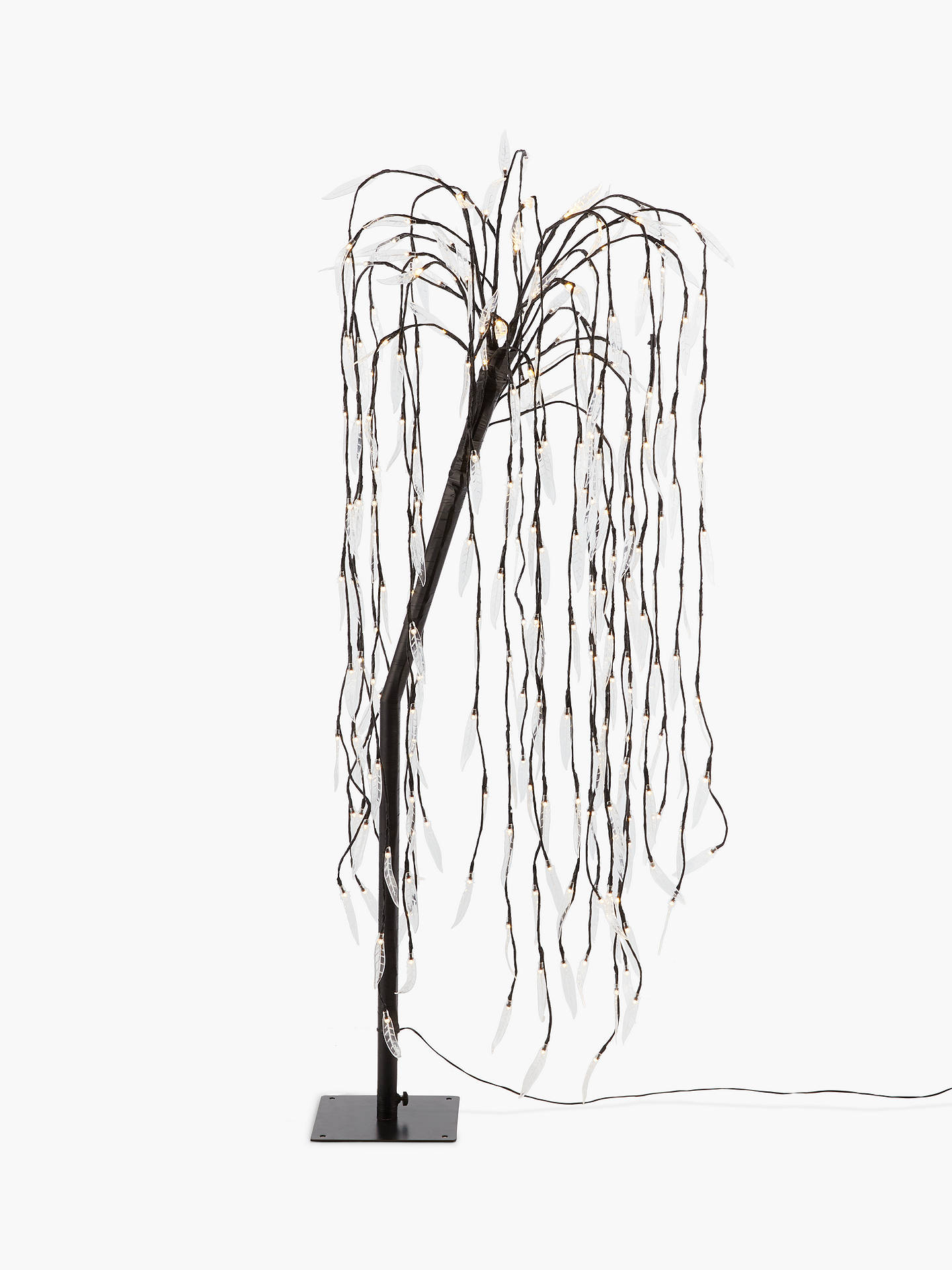 Buy Outdoor 240 LED Willow Christmas Tree, 5ft, Black Online at johnlewis.com