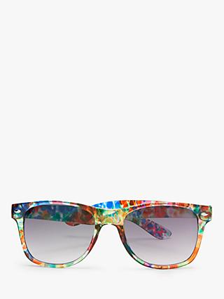 John Lewis & Partners Women's D-Frame Sunglasses, Multi Floral/Grey Gradient