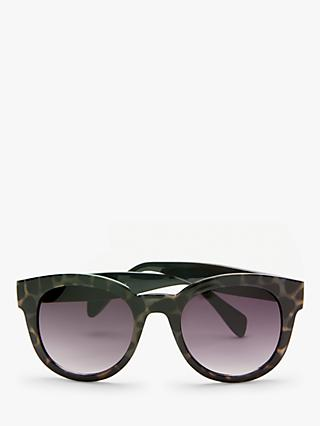 John Lewis & Partners Women's Preppy Round Sunglasses