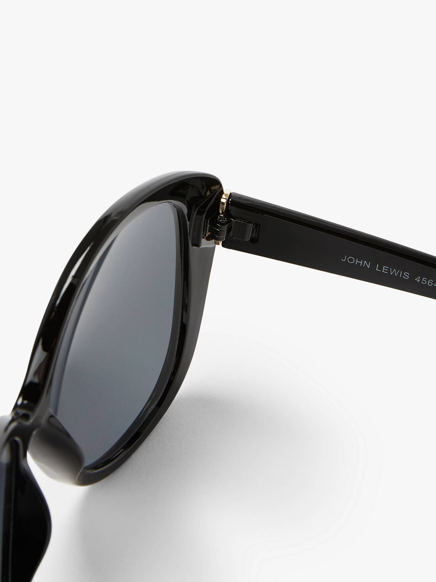 Buy John Lewis & Partners Women's Oversize Square Sunglasses, Black Online at johnlewis.com