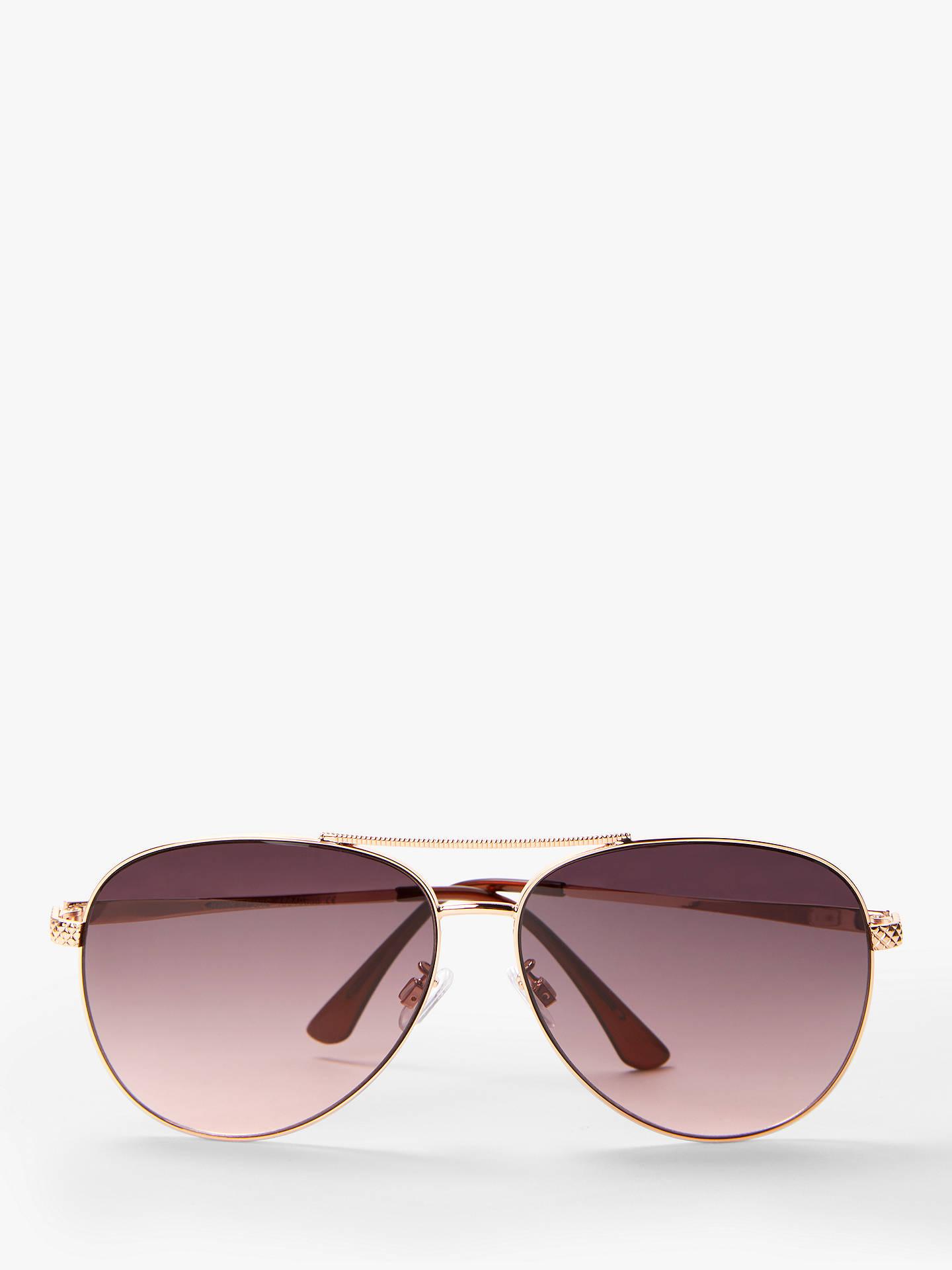 0868e2d36f5 Buy John Lewis & Partners Women's Twist Aviator Sunglasses, Rose Gold/Purple  Gradient Online ...