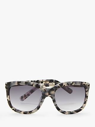 AND/OR Women's Marble Square Sunglasses, Grey/Lilac Gradient