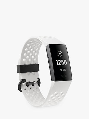 Buy Fitbit Charge 3 Special Edition, Health and Fitness Tracker with NFC, White Online at johnlewis.com