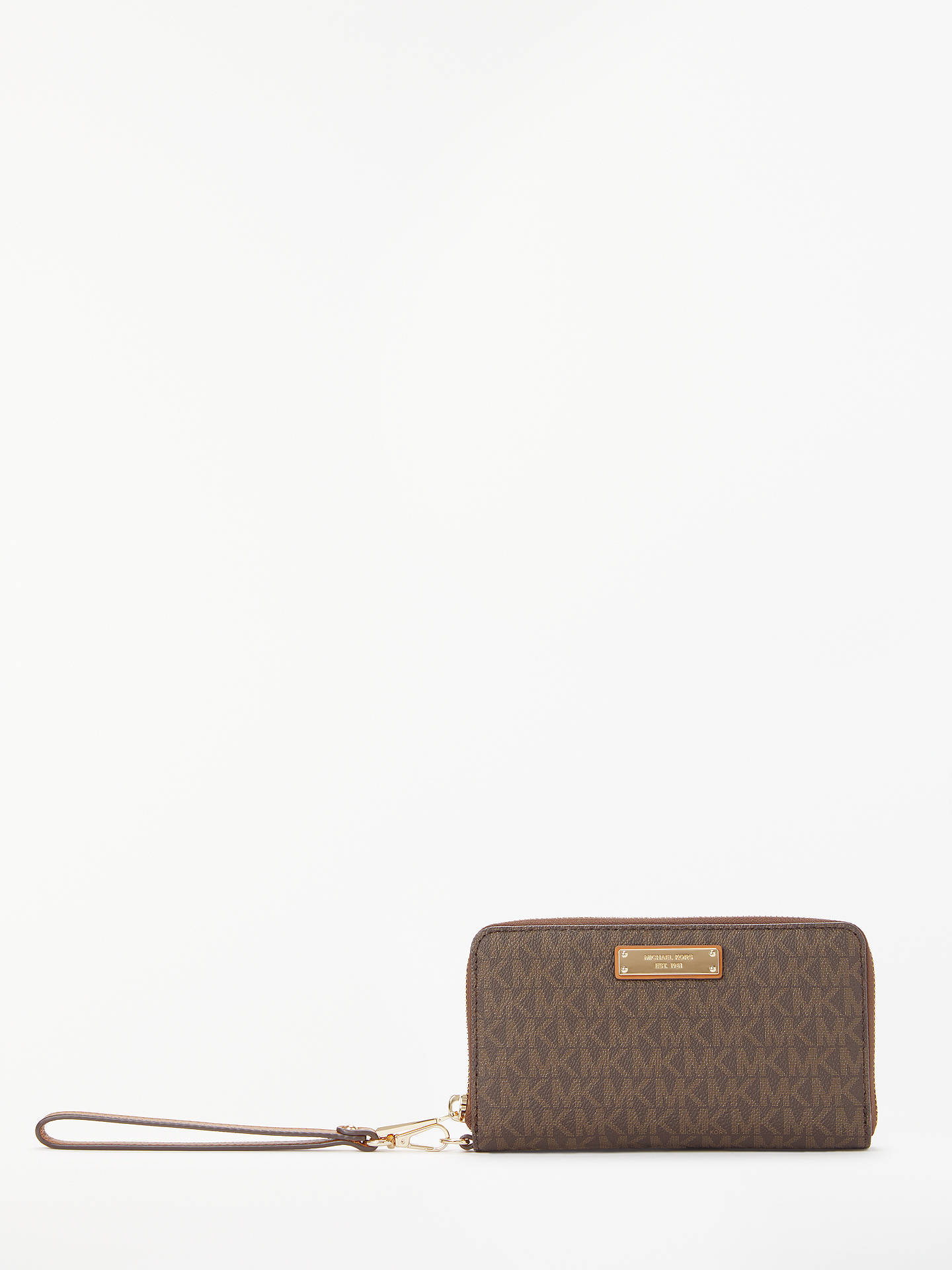 Buy MICHAEL Michael Kors Jet Set Signature Travel iPhone Case Purse, Brown Online at johnlewis.com
