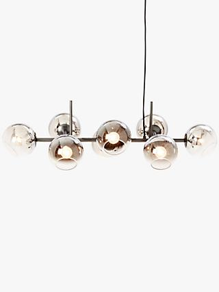 west elm Staggered Glass Chandelier Ceiling Light, Silver