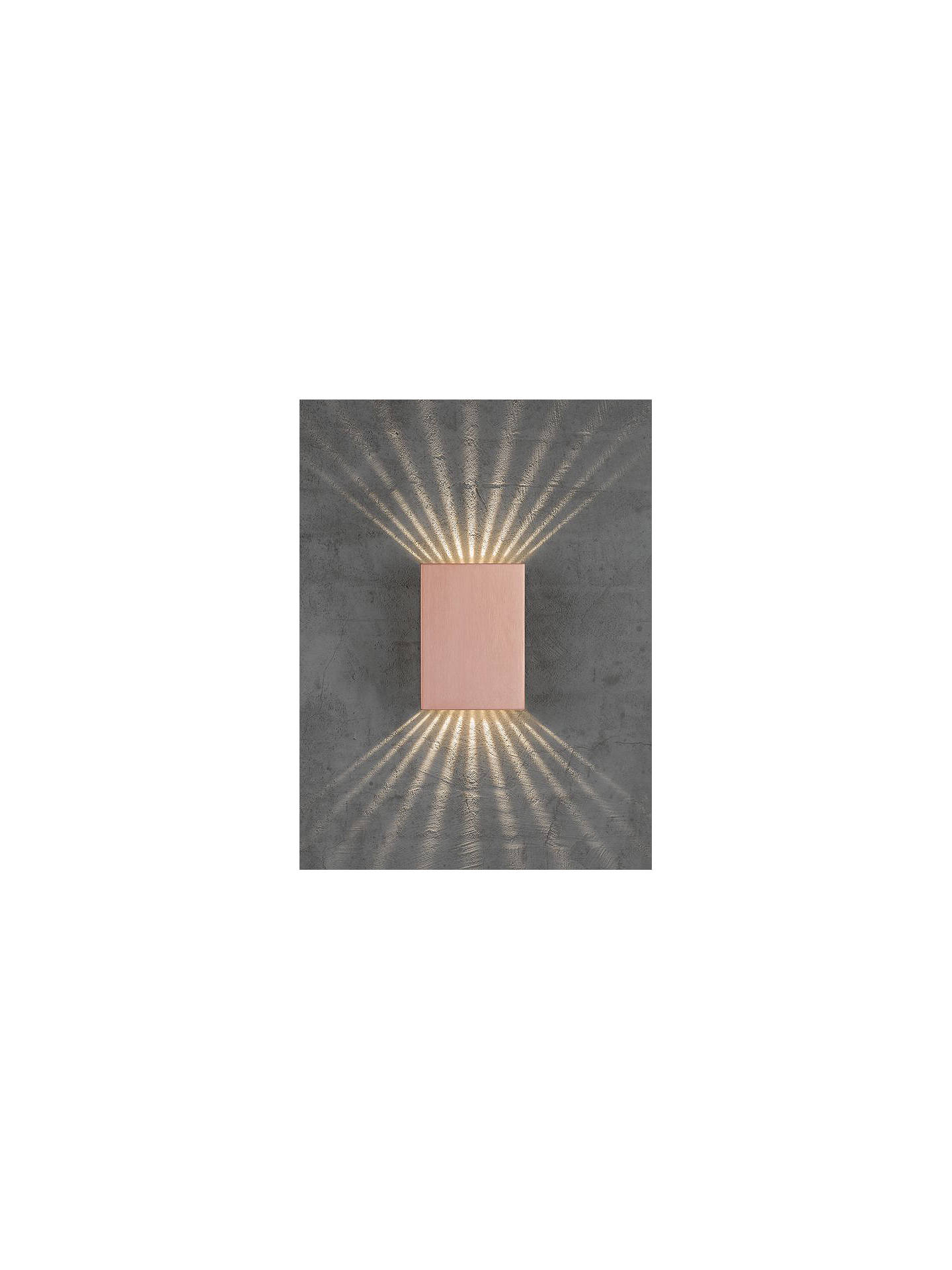BuyNordlux Design For The People Fold LED Outdoor Wall Light, Copper Online at johnlewis.com
