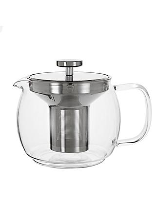 John Lewis & Partners Glass Teapot with Infuser, 1.2L