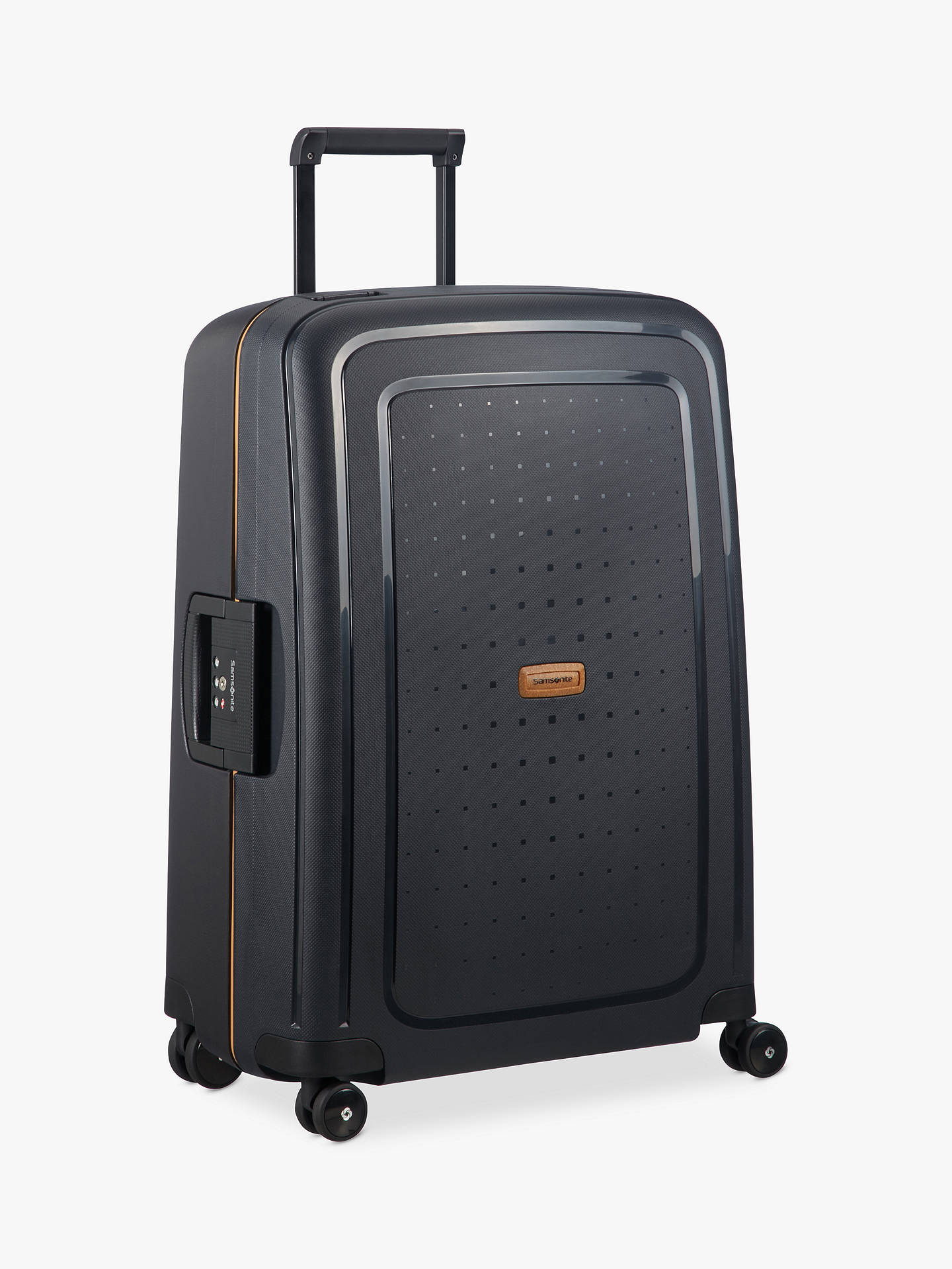 Buy Samsonite S'cure ECO 4-Wheel 69cm Medium Case, Black Online at johnlewis.com
