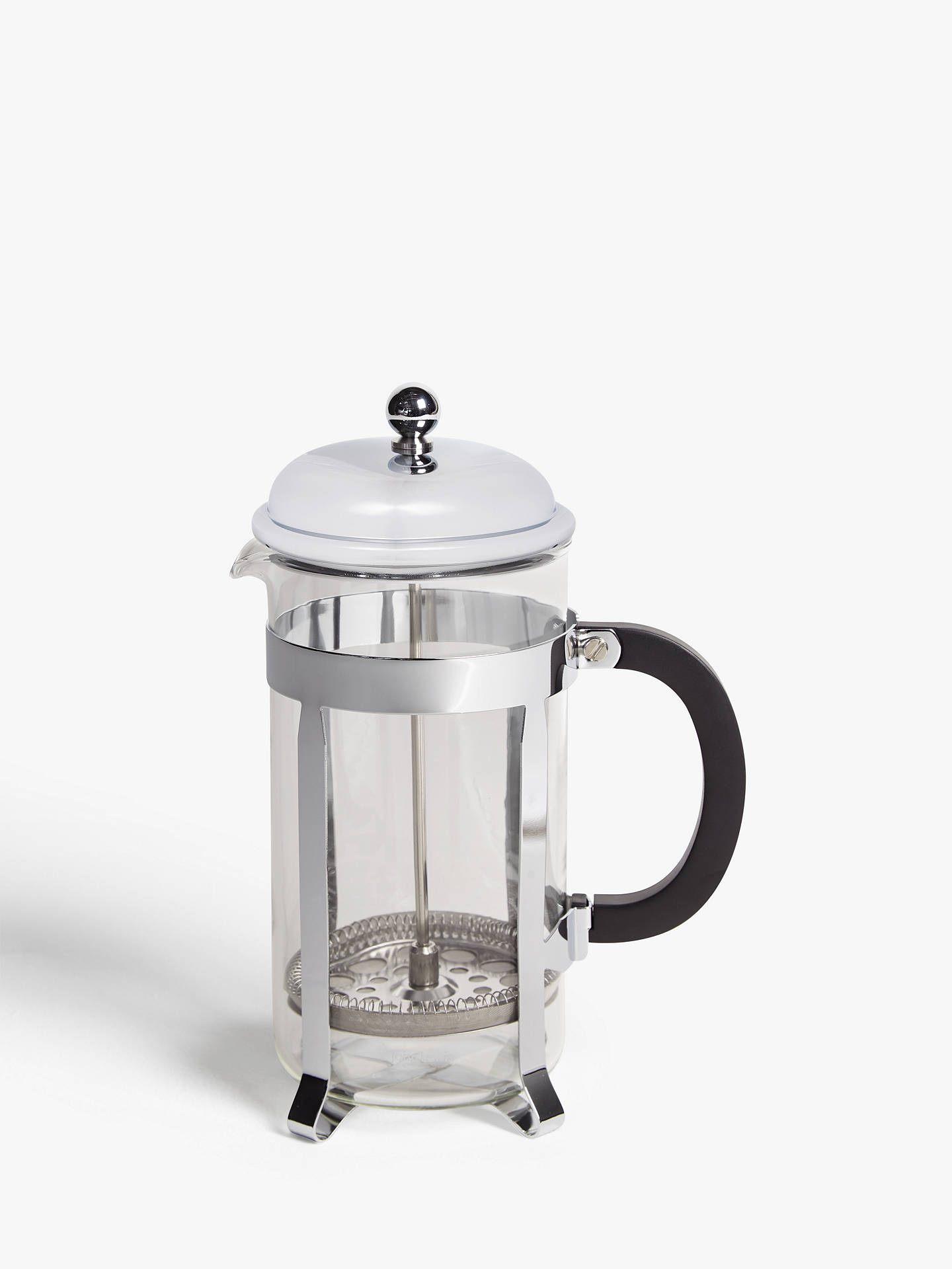 John Lewis Partners Classic 8 Cup French Press Cafetiere 1l Stainless Steel