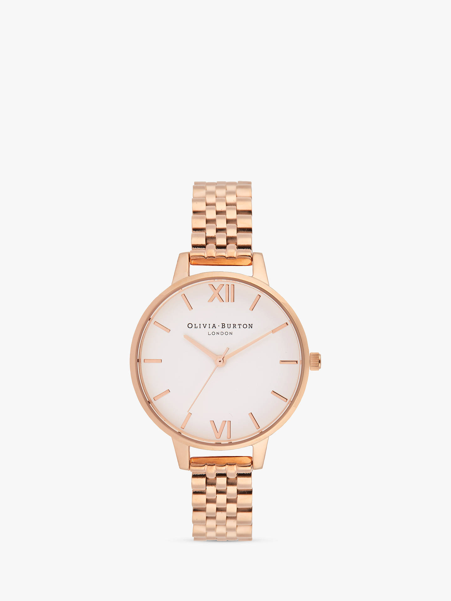 Olivia Burton OB16DEW01 Women s White Dial Bracelet Strap Watch ... fa94249a58