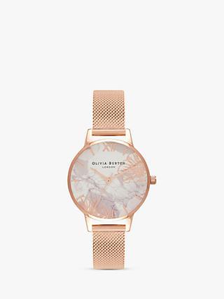 4cb8bab0391d Olivia Burton OB16VM11 Women s Marble Florals Mesh Bracelet Strap Watch