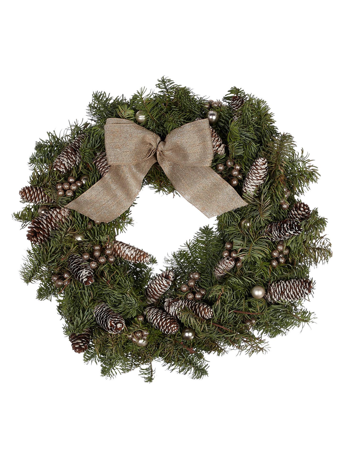 Buyjohn Lewis & Partners Real Christmas Wreath, Rose, 14 Online