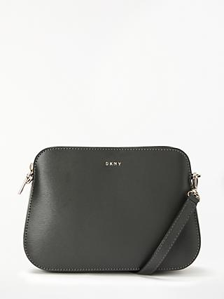 59a7a33670 DKNY Bryant Leather Central Zip Cross Body Bag