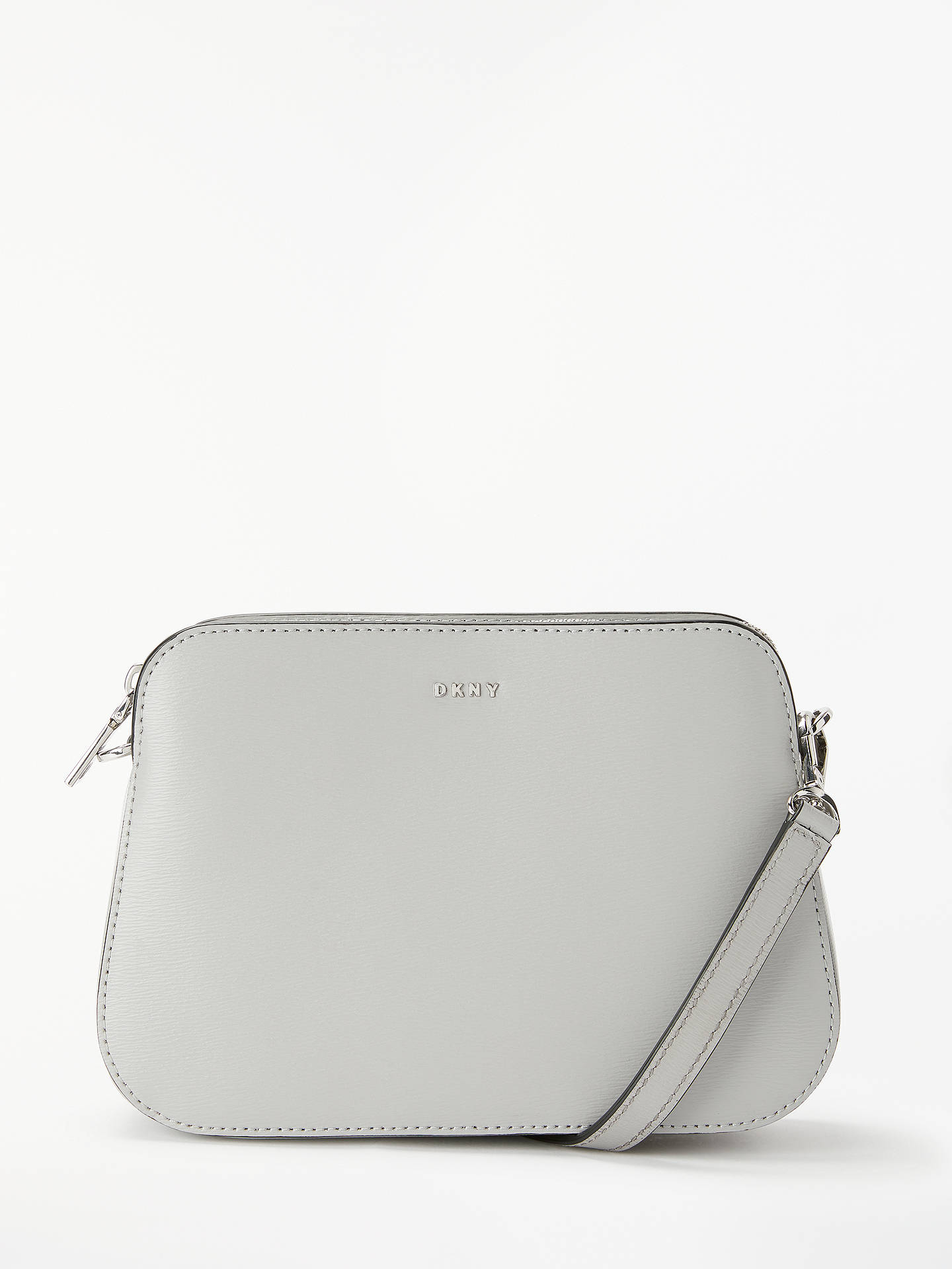 26ab3b777 Buy DKNY Bryant Leather Central Zip Cross Body Bag, Mid Grey Online at  johnlewis.